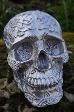 347070 FIGURINE  CRANE TETE DE MORT  RELIEF ARGENT GOTHIQUE HEROIC FANTASY