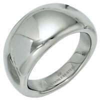 Breiter Ring Damenring aus Edelstahl glatt glänzend Fingerring B: 11mm