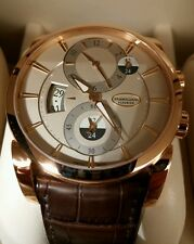 Parmigiani Fleurier Rose Gold Hemispheres, Papers! extra new strap! $42,650!