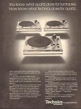 1978 vintage AD TECHNICS Record MKII Turntables Panasonic Quartz 061117