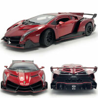 1:24 Static Lamborghini Veneno Supercar Diecast Model Car Collection Red Gift