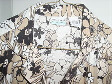 Hawaiian style Shirt, Ladies L SS 55% Cotton 45% Rayon by Kim Rogers, Floral