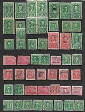 Valuable lot of 51 US Tax Documm. Internal Rev. 5¢, R164  Pairs, Rare Block