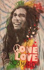 Bob Marley One Love 2010 Hope Road Music Zion Rootswear Blue T-Shirt Tye Dyed S