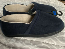 NEW M&S GENTS NAVY MEMORY FOAM SLIPPERS 14