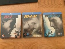 MISSION IMPOSSIBLE 1 2 & 3 STEELBOOKS BLU RAY **NEW & SEALED**