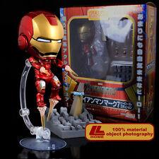 "Nendoroid 284# Avengers Iron Man Mark7 Hero's Edition 4"" Action Figure Gift toy"