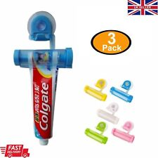 3x Toothpaste Dispenser Rolling Squeezer Wall Mounted Holder Hanging Suction Set