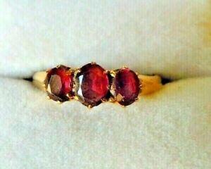 Beautiful 18 Carat Gold Antique Victorian Amethyst Ring Size L-L1/2