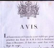 AFFICHE AVIS 1817 CERTIFICAT SANTÉ OBLIGATION VACCINALE PASSE SANITAIRE SAVOIE