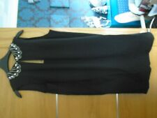 NEW  NEXT size 12 black evening dress. hand embellished neck..rp 35