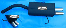 Exhaust Rear Silencer Muffler ALFA ROMEO 156 1.9 2.4 2.5 JTD  Black Tuning Sport