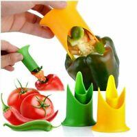 2Pcs Creative Pepper Cutter Corer Slicer Tomato Fruit Kitchen Tools I3K7