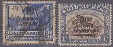 (Q6-23) 1941 Kenya 10c &70c O/P on South African stamps