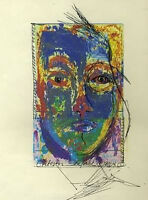 Embellished Face Abstract #2 = Signed ART PRINT = Cathy Peterson = LISTED ARTIST