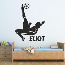 FOOTBALL Autocollants muraux enfants Chambre Garçons footballeur Autocollant Personnalisé En Vinyle