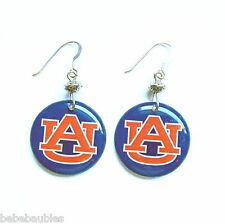 Auburn University AU Navy Orange Earrings Silver Licensed Logo Tigers Jewelry