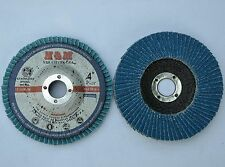 "10pcs Flap Sanding Discs 4"" x 5/8"" Zirconia 120 Grit for Stainless Steel & Metal"