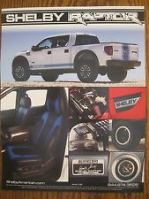 Shelby Automobiles    Shelby Raptor      Sales Info Sheet