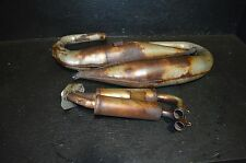 #813 2001 Polaris rmk 800   exhaust pipe & can