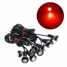 10X Motor Car Eagle Eye Light DRL 9W LED Red 18MM Bolt On Screw Backup Light Fog