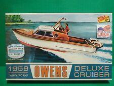LINDBERG 1959 OWENS DELUXE CRUISER Boat MODEL CAR MOUNTAIN KIT 1/25 NEW! HL222
