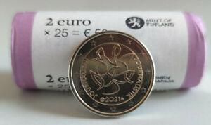 2 Euros Finlandia 🇫🇮 2021 Periodismo y comunicación. SC.