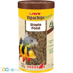 Sera Vipachips Nature Fish Food Chips 1,000mL Prebiotic Sinking Chips