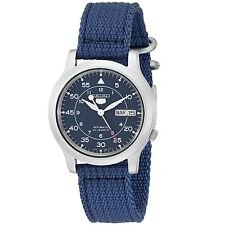 Seiko 5 SNK807 K2 Automatic Blue Nylon Canvas Strap Men's Watch with Seiko Box