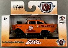M2 MACHINES 1957 CHEVROLET 150 ORANGE GROUND POUNDERS FREE SHIPPING!!!