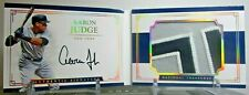 2017 NATIONAL TREASURES AARON JUDGE ROOKIE BOOKLET PATCH AUTO #D 10/10 YANKEES