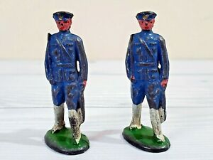 Vintage Toy Soldier Policeman, Blue Coat Toy Soldier, Metal Sculpture, Cast Iron