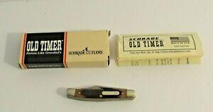 VTG SCHRADE OLD TIMER POCKET KNIFE MADE IN USA #108OT JUNIOR STOCKMAN w BOX