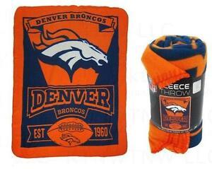 Denver Broncos Fleece Throw Blanket