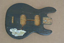 PEAVEY T-40 BASS BODY in REFINISHED BLACK WALNUT for YOUR PROJECT ! LOT #C684