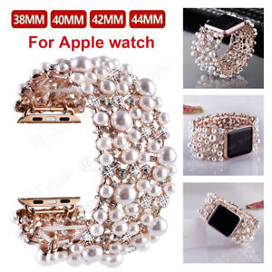 Pearl Bracelet Watch Band Straps For Apple iWatch Series 6 5 4 3 2 38/40/42/44mm