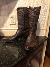 Justin Cordovan Cowboy Boots - Mens Size 10.5B Needle Toe Vintage K 1845
