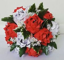 Origami Roses Baby's Breath Paper Flower Bouquet Wedding Anniversary