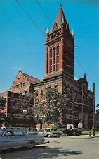 Cumberland Maryland~Allegany County Courthouse~1960s Cars~Postcard