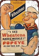 "Popeye for Wheatena Rustic Retro Metal Sign 8"" x 12"""