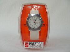 Prestige Nurses Watch Model 1700. Classic Chrome and White. NEW Free Ship