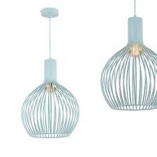 [lux.pro]® Lámpara colgante moderna color azul pastel diseño industrial de metal