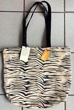 Tasche Leder Zebra schwarz/weiß.  NEU