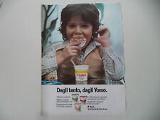 advertising Pubblicità 1976 YOGURT YOMO