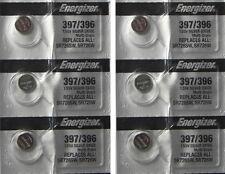 6 ENERGIZER 397/396 SR726SW SR726W WATCH BATTERY NEW