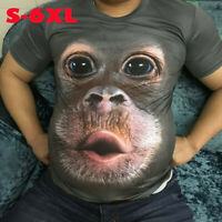 Men's 3D Printed Fashion T-shirt Clothing Casual Short sleeve Tops Gorilla UK