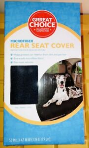 Grreat Choice® Microfiber Rear Car Seat Cover Protection From Dirt And Pet Hair