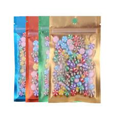 Translucent Front Flat Ziplock Mylar Storage Pouches for Pencils/Pens (12x22cm)