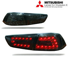 LED TAIL LIGHT SMOKE BLACK LAMP Mitsubishi Evolution 10 EVO X LANCER EX 08-15 CJ