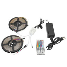 2Pcs 5M RGB 300 LED Strip Light 3528 SMD Non-Waterproof+44-Keys Remote+12V Power